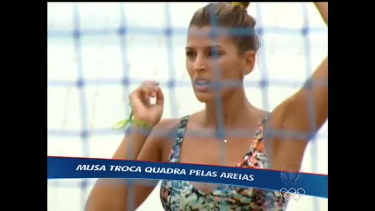 Após ensaio nu, Mari Paraíba troca a quadra pelas areias - Rede ...