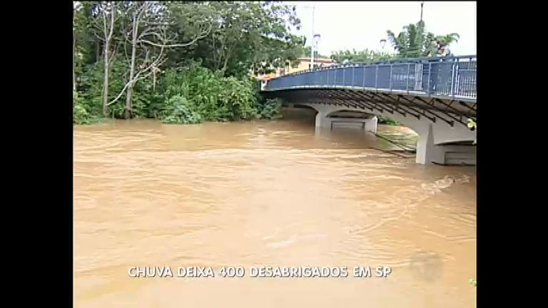 Chuva deixa ao menos 400 desabrigados em São Luiz do Paraitinga