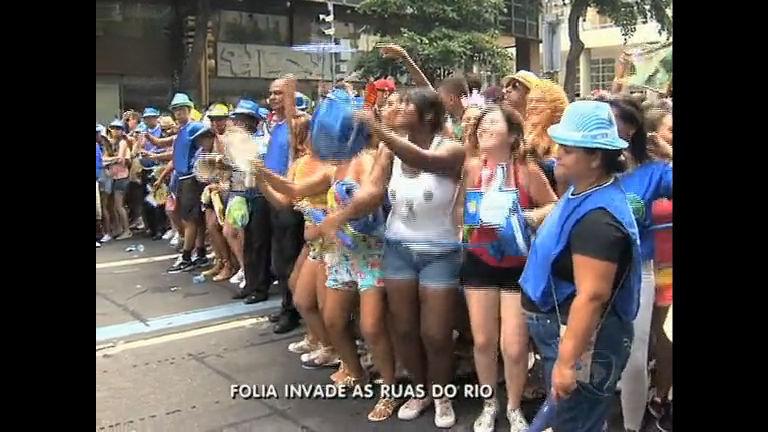 Carnaval: folia invade ruas do Rio - Rio de Janeiro - R7 RJ no Ar