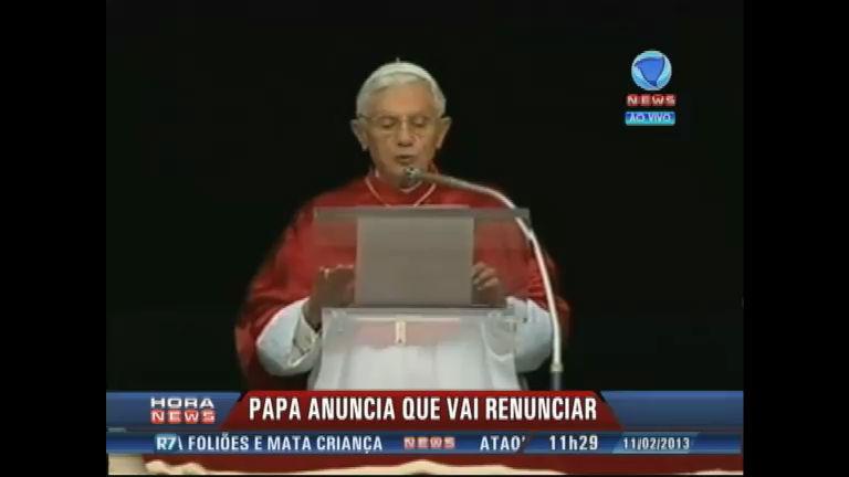 Anúncio do Papa Bento XVI surpreende o Vaticano - Record News ...