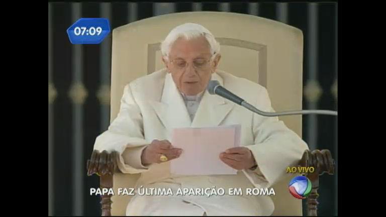 Papa Bento XVI faz última aparição em Roma - Notícias - R7 ...