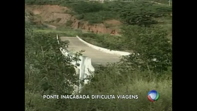 Ponte de R$ 2 milhões construída há dez anos fica abandonada no ...