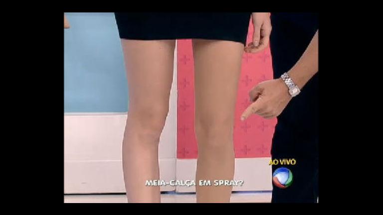 Tá Na Moda: meia-calça em spray esconde imperfeições - Rede ...