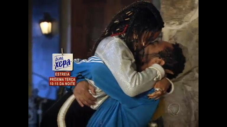 Zé Maria perdoa Dóris e os dois se beijam - Rede Record