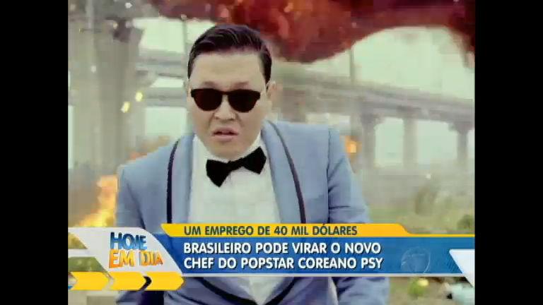 Conheça o brasileiro que pode virar chef do popstar Psy na íntegra ...