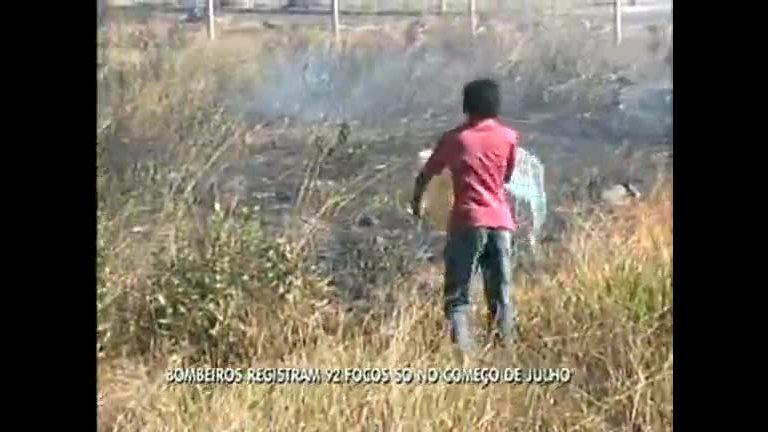 Incêndio florestal atinge área em Santa Maria - Distrito Federal - R7 ...