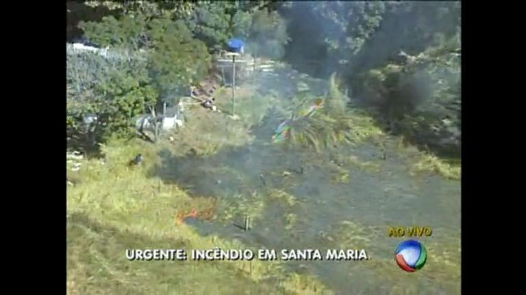 Incêndio em Santa Maria - Distrito Federal - R7 Balanço Geral DF