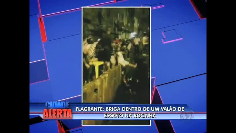 Imagens mostram briga dentro de valão na Rocinha (RJ) - Rio de ...