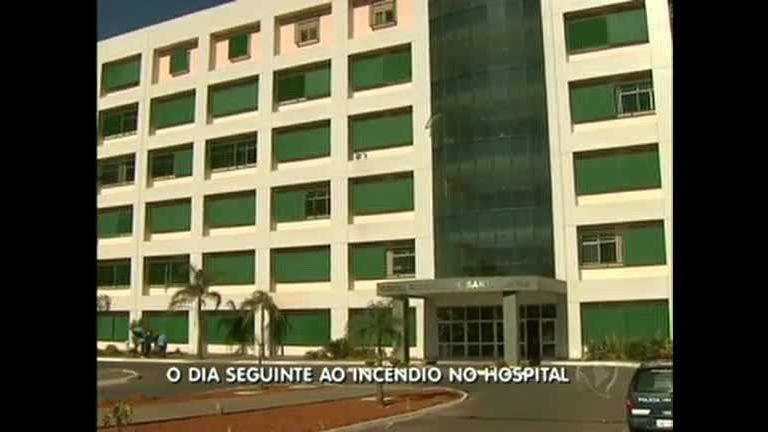 Após incêndio, Hospital de Santa Maria volta a atender - Distrito ...