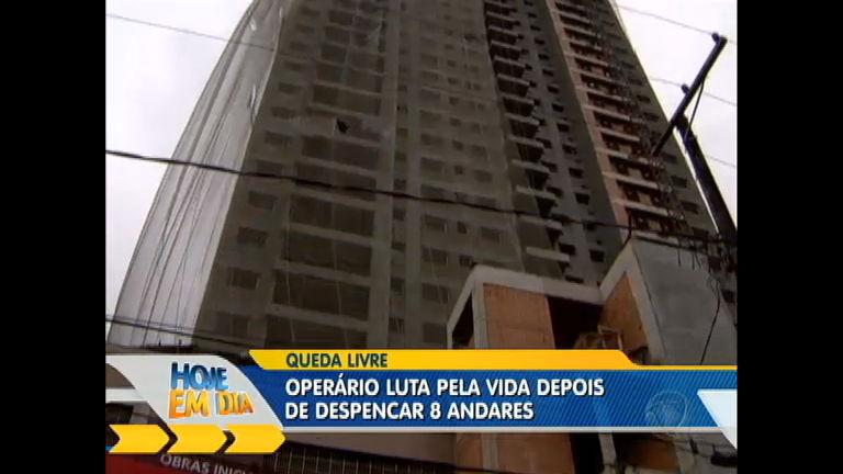 Operário luta pela vida depois de despencar de oito andares ...