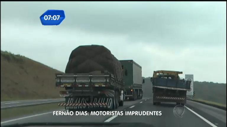 Câmeras flagram imprudência de caminhoneiros na rodovia Fernão ...