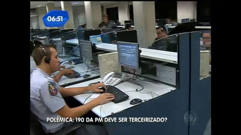 Polêmica: 190 da PM pode ser terceirizado - Notícias - R7 Balanço ...