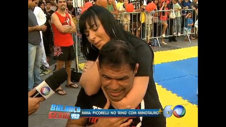 MMA: Luciana Picorelli enfrenta Minotauro no Ring no Rio - Rio de ...