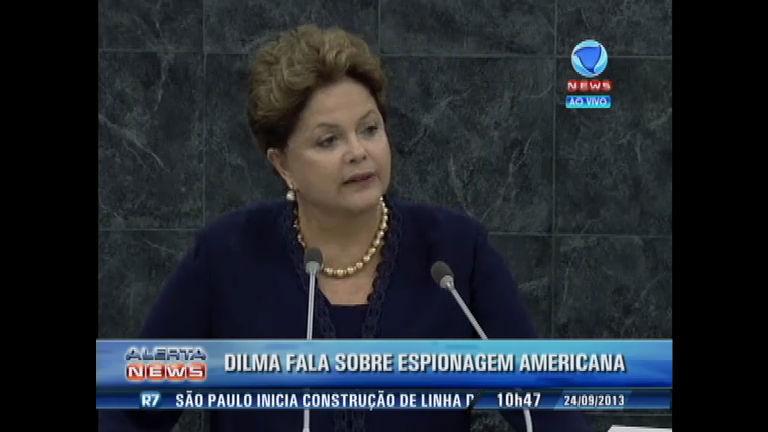 Dilma fala sobre a espionagem dos EUA e lamenta ataque terrorista ...