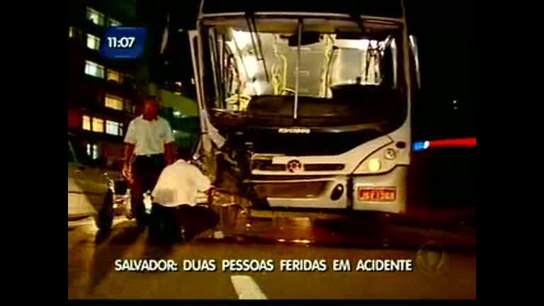 Duas pessoas feridas em acidente - Bahia - R7 Direto da Redação BA