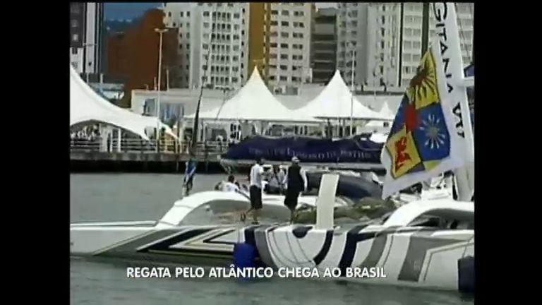 Regata chega a Itajaí ( SC) após cruzar o Oceano Atlântico - Notícias ...
