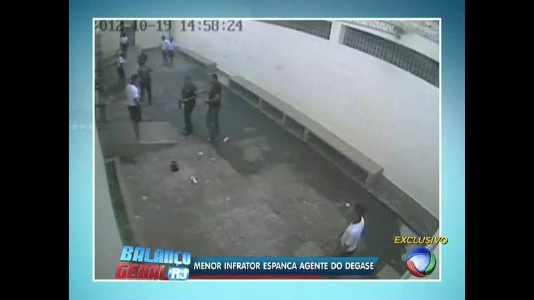 Flagrante: menor infrator agride agente do Degase - Rio de Janeiro ...