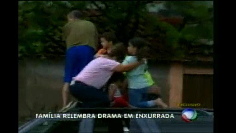 Família relembra resgate dramático durante enxurrada em Contagem