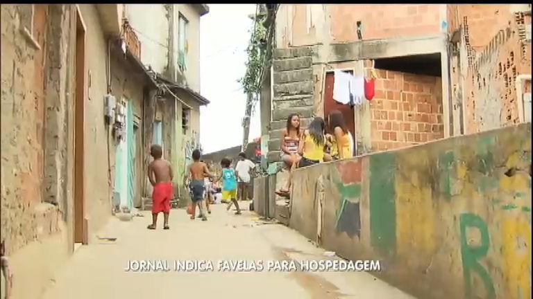 Jornal indica favelas hospedagem durante a Copa do Mundo de 2014