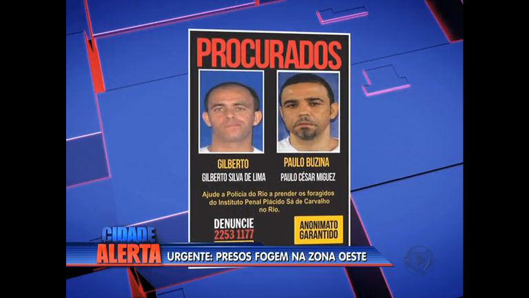 Polícia divulga fotos de presos que fugiram de presídio da zona ...