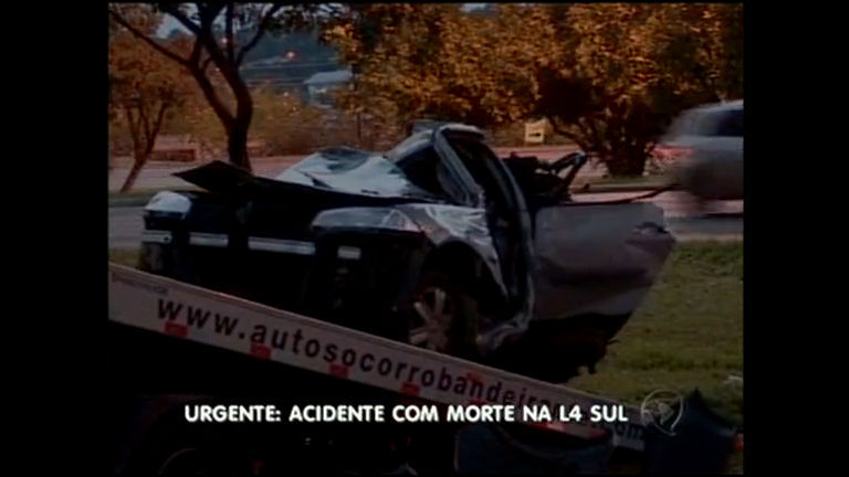 Urgente: acidente com morte na L4 Sul - Distrito Federal - R7 DF no Ar