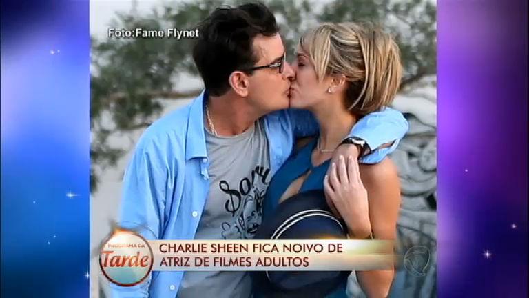 Charlie Sheen anuncia noivado com Brett Rossi, estrela de filme ...
