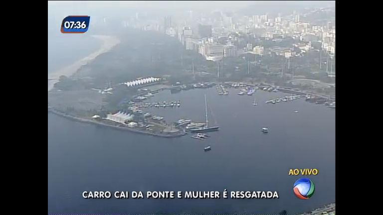 Carro cai da ponte Rio- Niterói e mulher é resgatada sem ferimentos ...