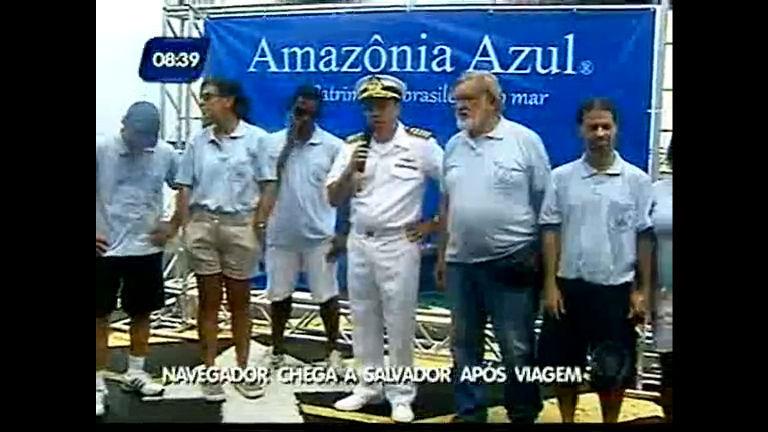 Navegador chega a Salvador após viagem - Bahia - R7 Bahia no Ar 24584cff054ba