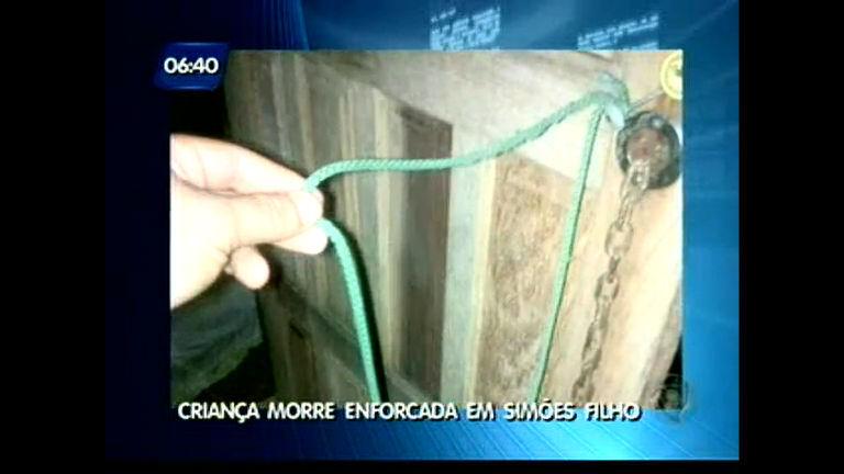 Criança morre enforcada em Simões Filho - Bahia - R7 Balanço ...