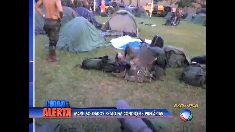 Soldados estão em condições precárias na Maré - Rio de Janeiro ...