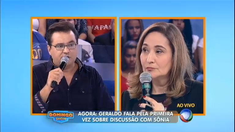 """Geraldo se desculpa após briga com Sônia Abrão: """"Eu errei e peço ..."""