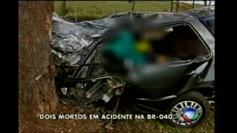 Acidente na BR- 040 deixa doir mortos em Nova Lima - Minas Gerais ...