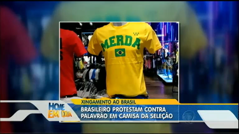 Brasileiros protestam contra camiseta da seleção com palavrão ...