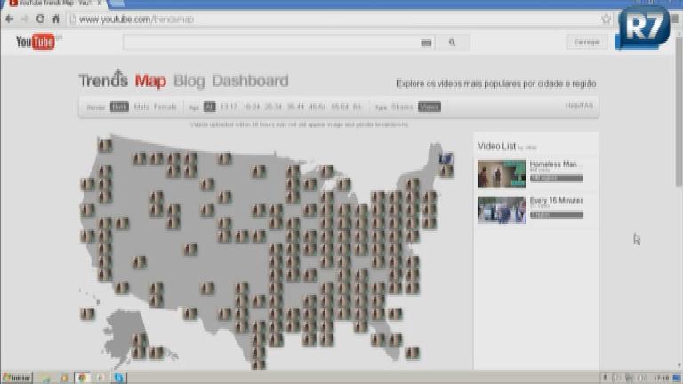 Rosana Indica canal do Youtube que mostra mapa com vídeos mais ...