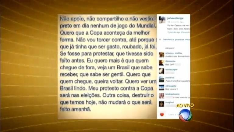 Joana Havelange gera polêmica ao criticar protestos contra a Copa ...