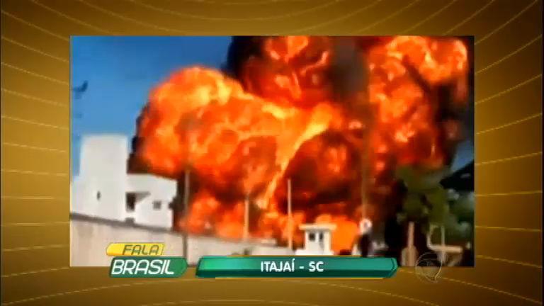 Explosão de caldeira destrói refinaria de óleo em Itajaí ( SC ...