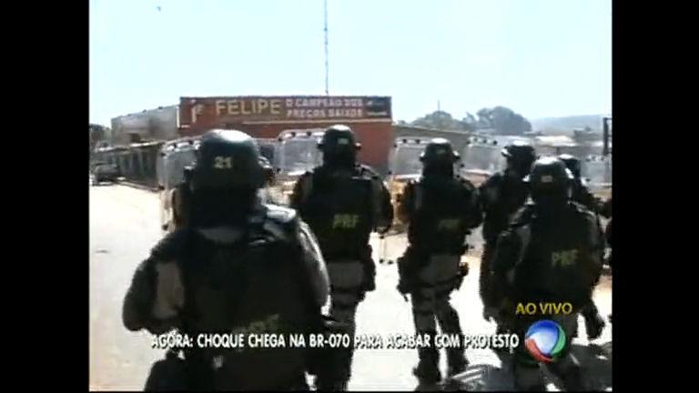 BR-070 tem clima tenso durante manifestação em Águas Lindas ...