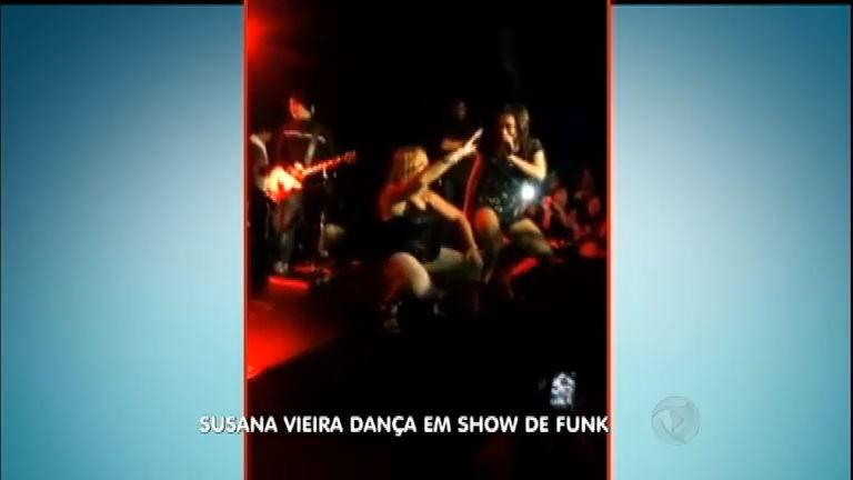 Susana Vieira é flagrada enquanto descia até o chão em show de ...
