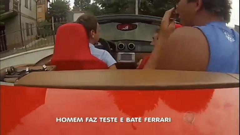 Desastre: rapaz bate Ferrari enquanto fazia test drive - Notícias - R7 ...