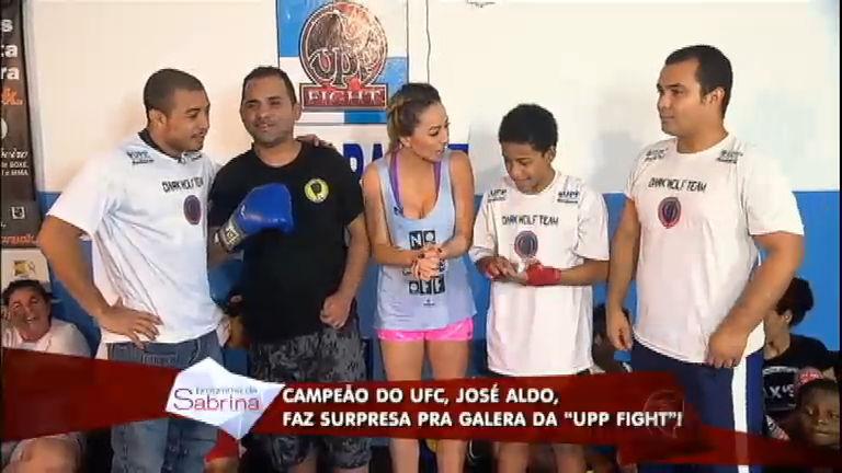 Sabrina e José Aldo realizam sonho de crianças carentes na UPP ...