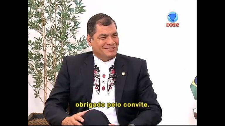Rafael Correa, presidente do Equador, fala com exclusividade ao ...