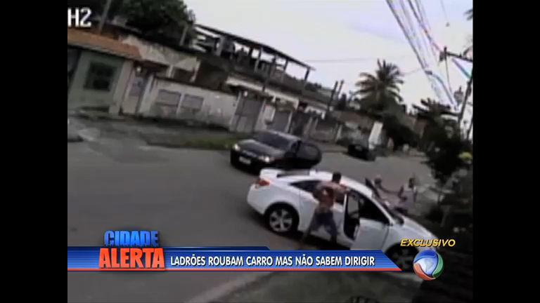 Assaltantes roubam carro automático sem saber dirigir; veja (RJ ...