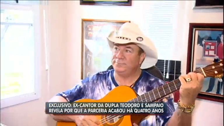 Cantor Alcino Alves revela por que saiu da dupla Teodoro e Sampaio