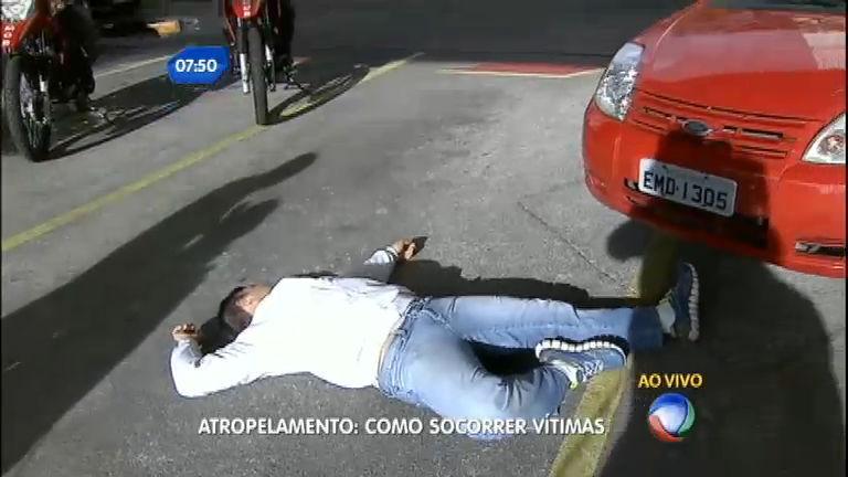 São Paulo no Ar mostra como socorrer uma vítima de atropelamento ...