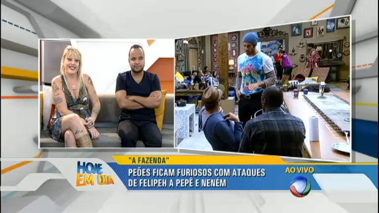 Lele e Miguel Arcanjo comentam o surto de Felipeh Campos na ...
