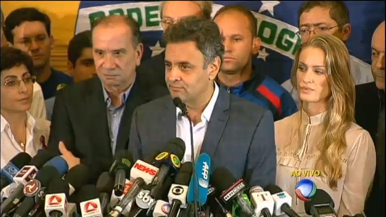 Após derrota nas urnas, Aécio Neves agradece apoio de eleitores ...