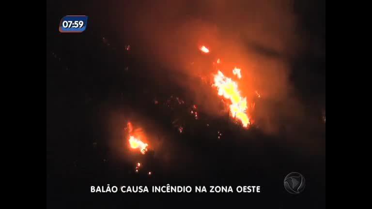 Balão causa incêndio no Recreio dos Bandeirantes, zona oeste do ...