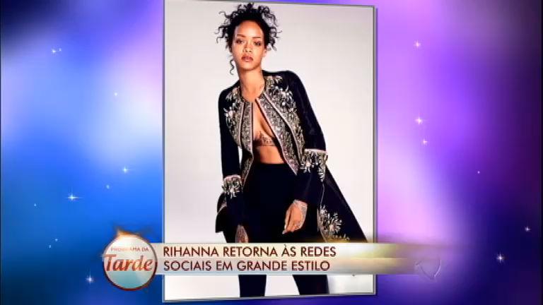 Em grande estilo: Rihanna retorna às redes sociais para a alegria ...