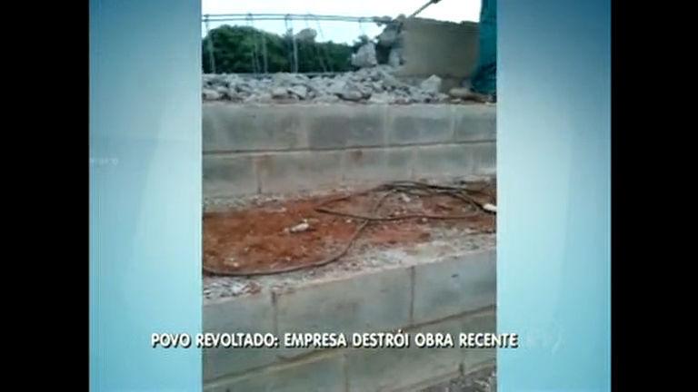 Empresa destrói arquibancada recém construída em Samambaia ...