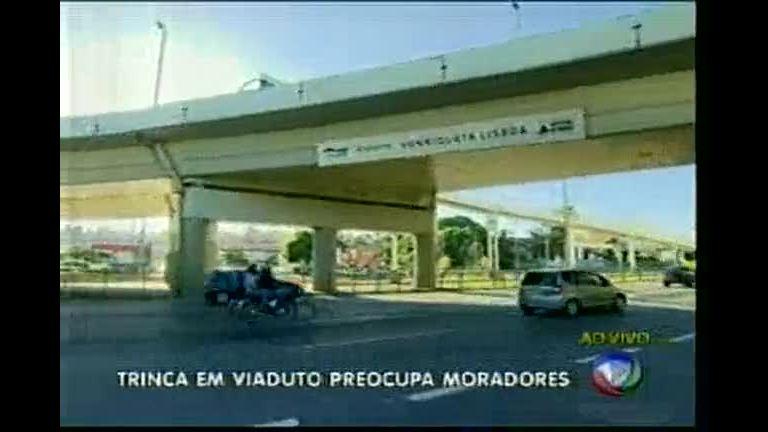 Trinca em viaduto que liga as avenidas Cristiano Machado e ...